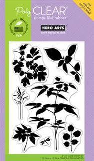 Hero Arts - Clear Designs - Delicate Leaf Clusters