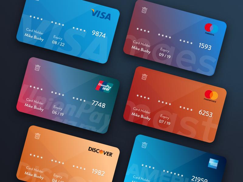 Colorful Credit Card Templates Credit Card Design Loyalty Card Design Debit Card Design
