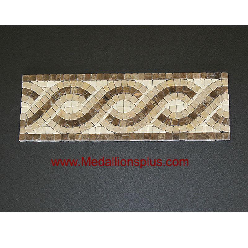 Harmony, Honed Mosaic Tile Listello 4\