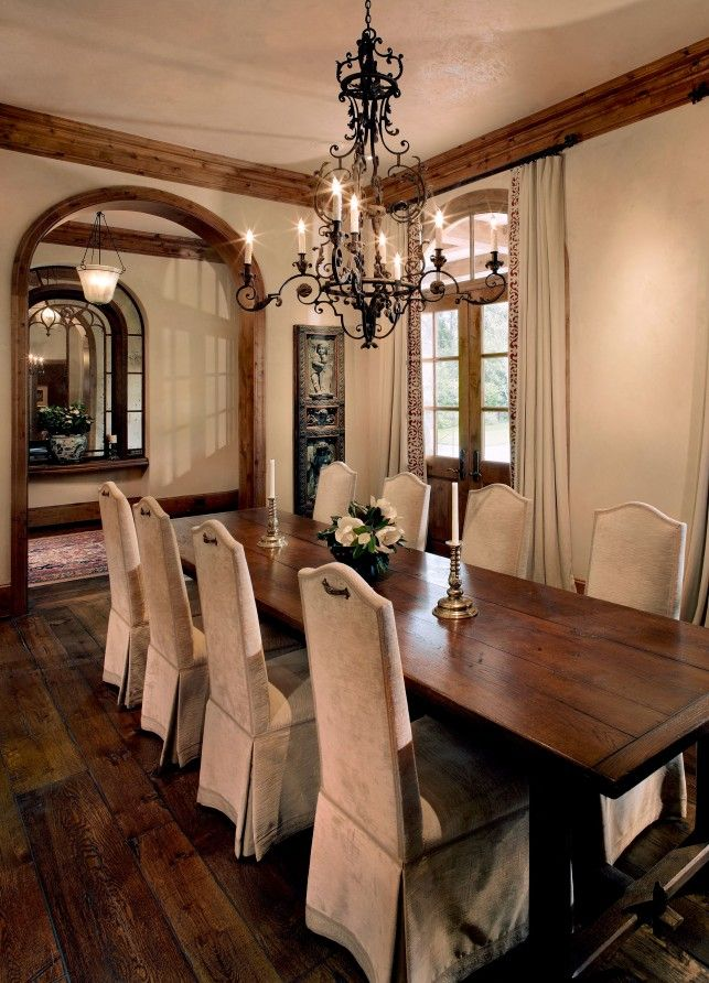 Colonial Elegant Living Room Furniture: Tuscan Mediterranean Dining Room In Rivercrest, TX