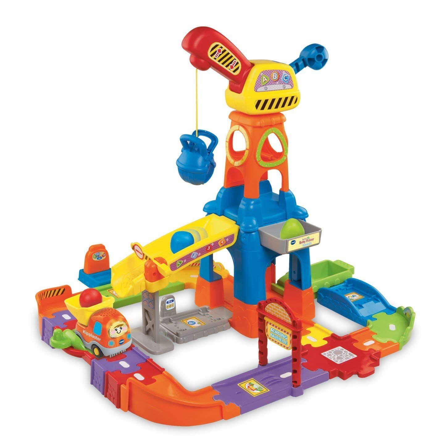 Vtech Tut Tut Baby Flitzer Baustelle Die Strassenteile Konnen Unterschiedlich Zusammengesteckt Spielzeug Parkhaus Spielzeug Fur Baby