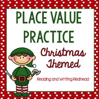 Christmas Themed Place Value Practice for 2NBT3.  For more like this check out my Pin Board https://www.pinterest.com/rwredhead/reading-and-writing-redheads-teachers-pay-teachers & sign up for my monthly newsletter for a freebie: eepurl.com/DFyuj
