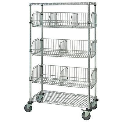 Quantum Storage Mobile Basket Unit 48in.W x 18in.D x 69in