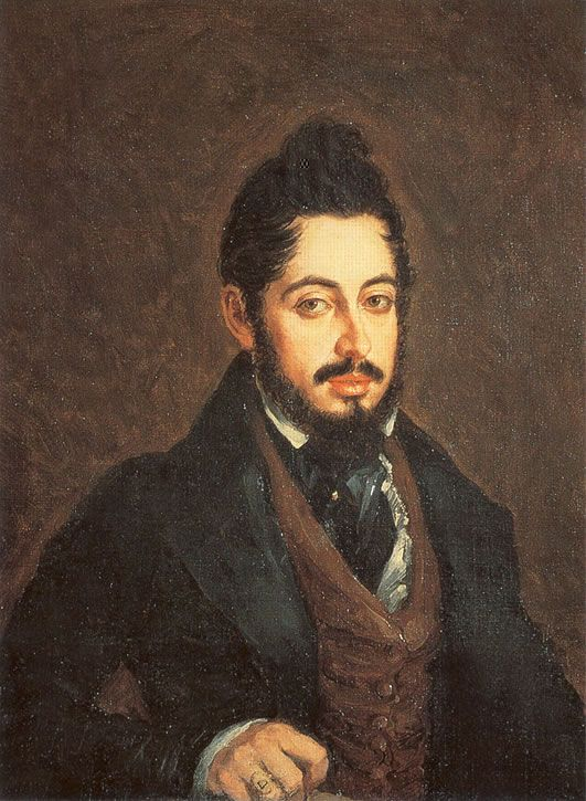 Retrato De Mariano José De Larra Realizado En 1837 Por José Gutiérrez De La Vega 1791 1865 Retratos Romanticismo Personajes De La Historia