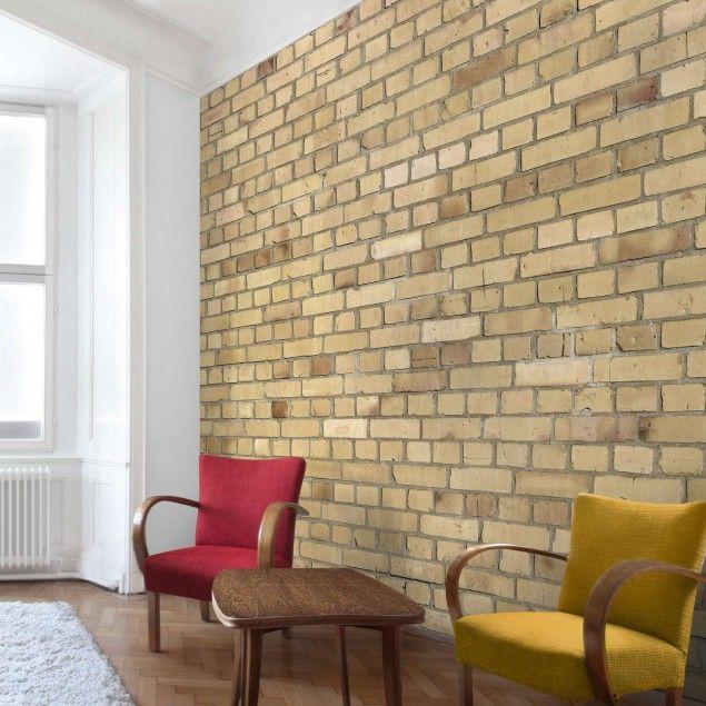 tapete steinoptik vliestapete premium klinkertapete. Black Bedroom Furniture Sets. Home Design Ideas
