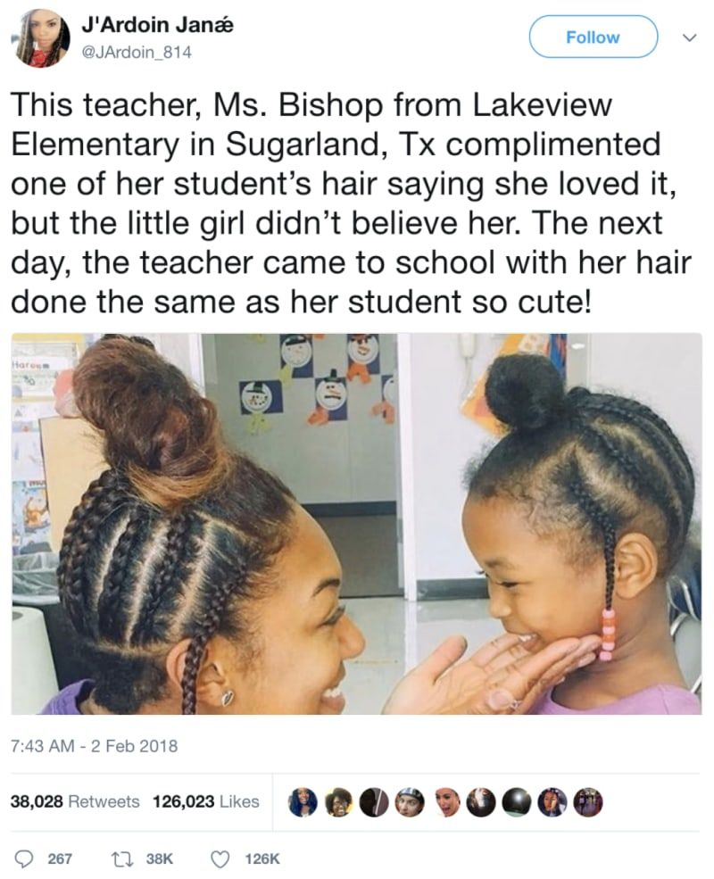 This Teacher Recreated Her 4-Year-Old Student's Hairstyle And, OK, I'm Crying, But You're Crying Too