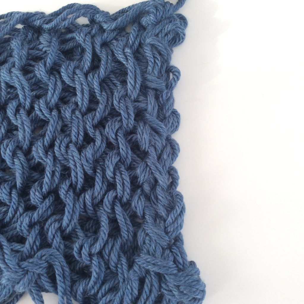 How to arm knit step by step part 6 joining the ends