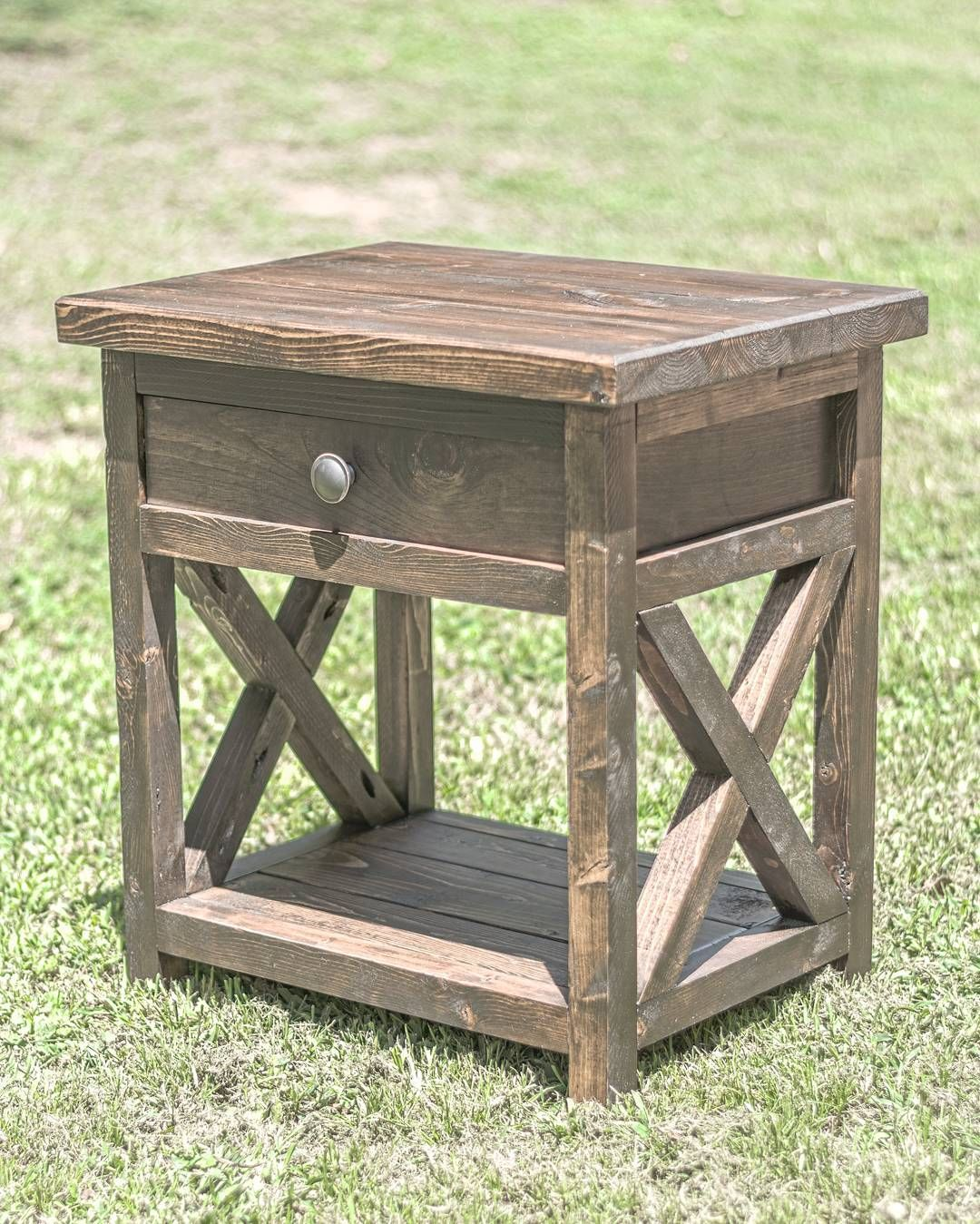 Diy farmhouse nightstand overlindesigns on ig general for Nightstand ideas