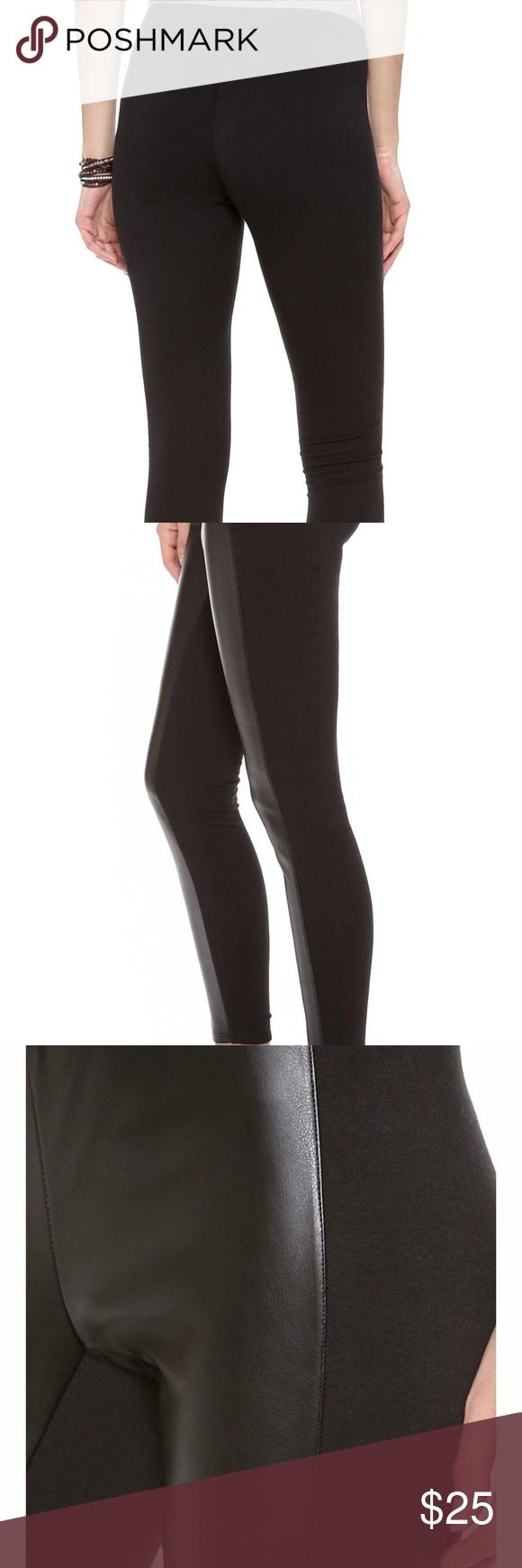 c3fa90cfbe7807 Splendid Women's Downtown Faux Leather Leggings XS Splendid Women's Downtown  Faux Leather Leggings Black X-