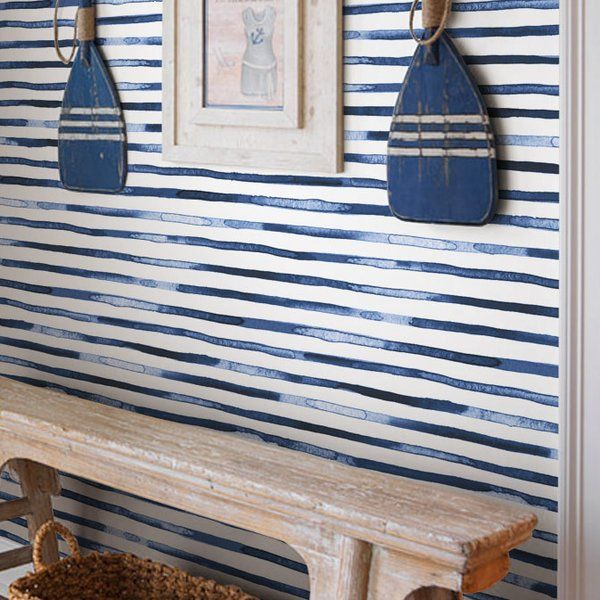 Watercolor Stripes PeelandStick Wallpaper & Reviews