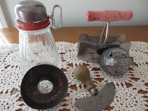 Vintage Kitchen Gadget Collection 1920s Old Kitchen by rockamecook, $20.00