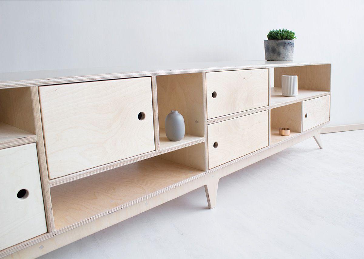 DRUPAL.long plywood tv / handmade tv console