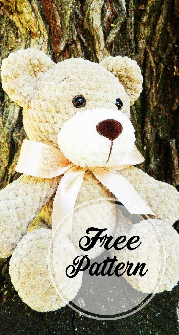 Free Amigurumi Crochet Bear Pattern With Different Colored  #crochetbear