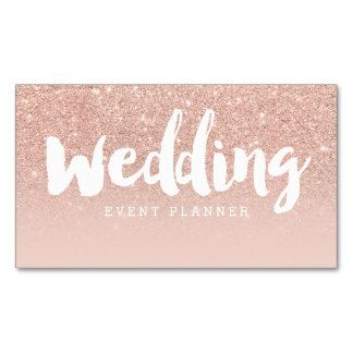 Wedding planner modern typography blush rose gold business card wedding planner modern typography blush rose gold business card flashek Images