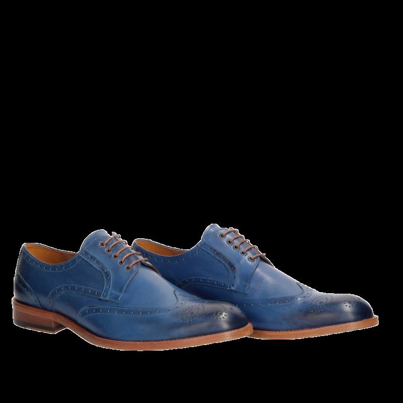 Niebieskie Polbuty Meskie Skorzane Tomy Ce0499 02 Sklep Conhpol Elite Dress Shoes Men Dress Shoes Oxford Shoes