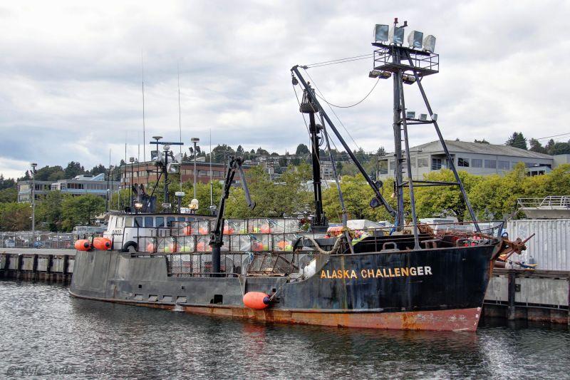 Alaska Challenger Bering Sea Crab Boat Seen Moored At