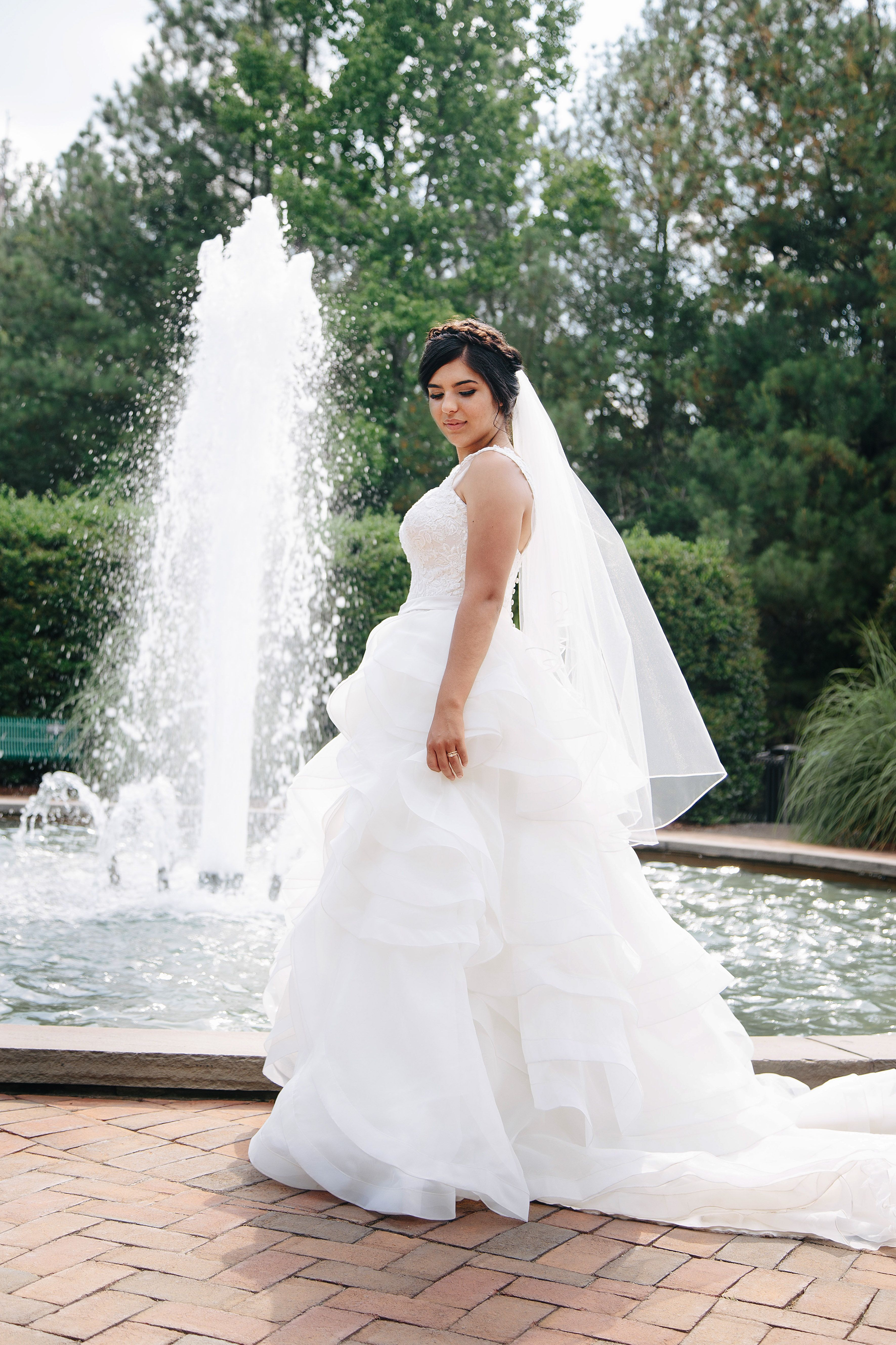 Stunning Wedding Dress Boho Wedding Dress Ruffle Wedding Dress