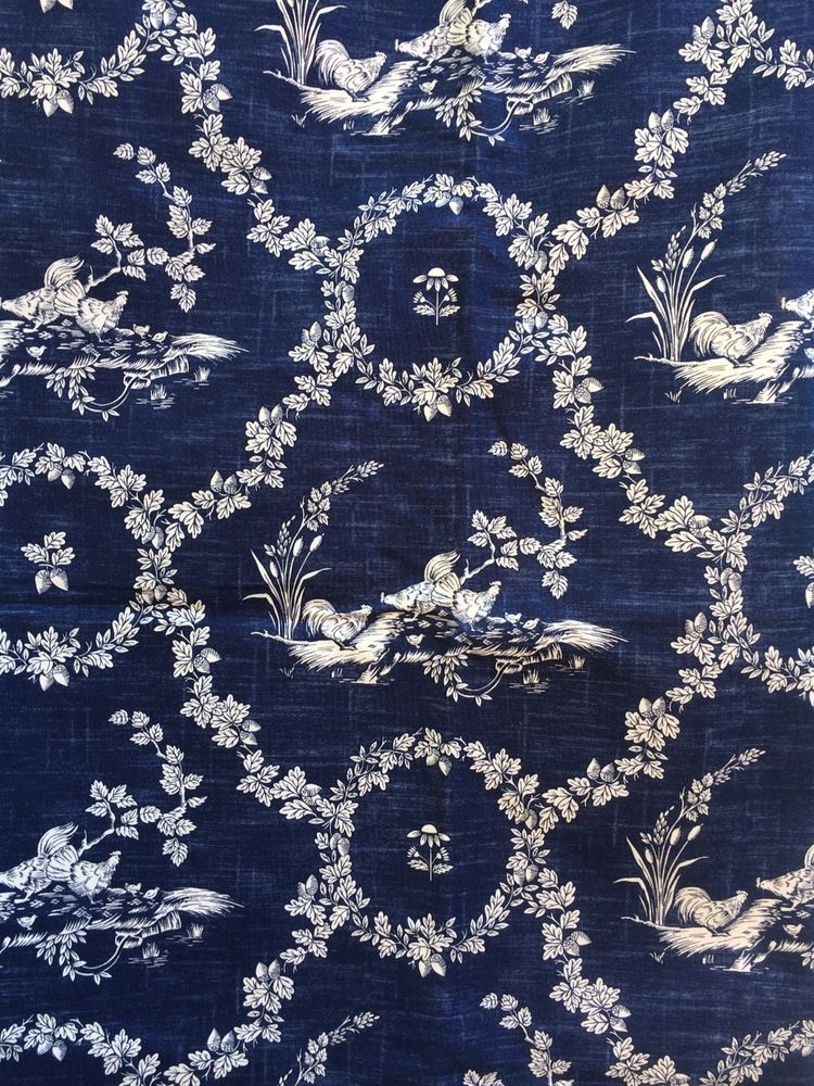 Pierre Deux French Country Toile Upholstery Fabric 19 W X 54 L