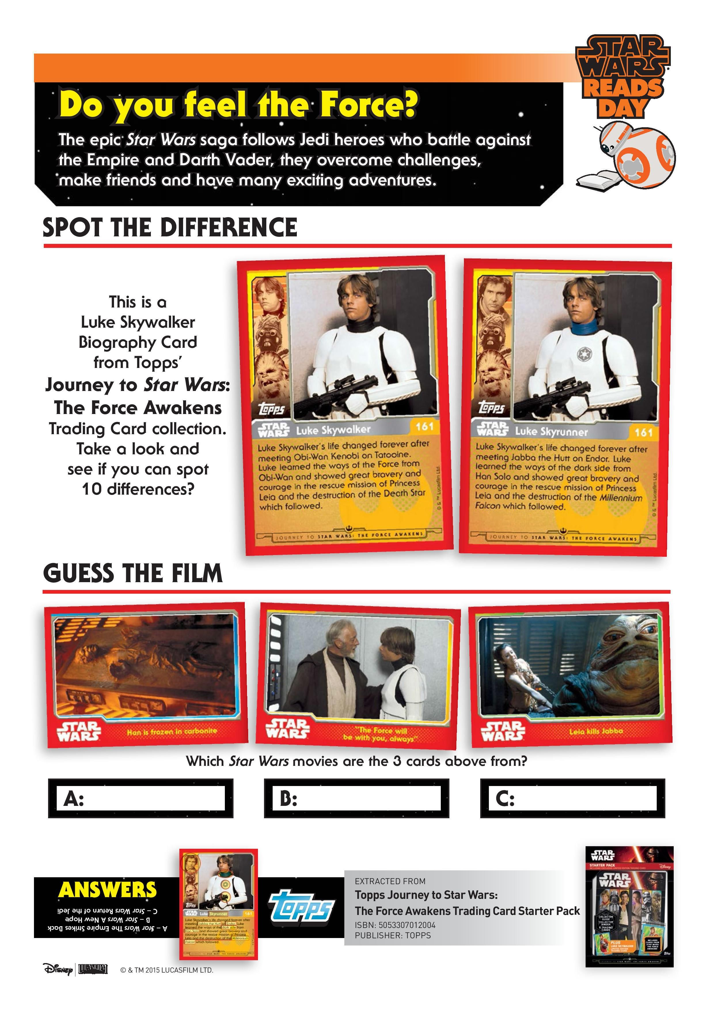 Star Wars Reads Day Activity Sheets Page 005