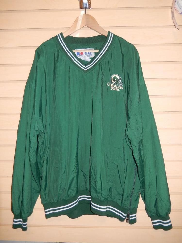Men's Colorado State Rams Windbreaker Pullover Jacket Russell ...