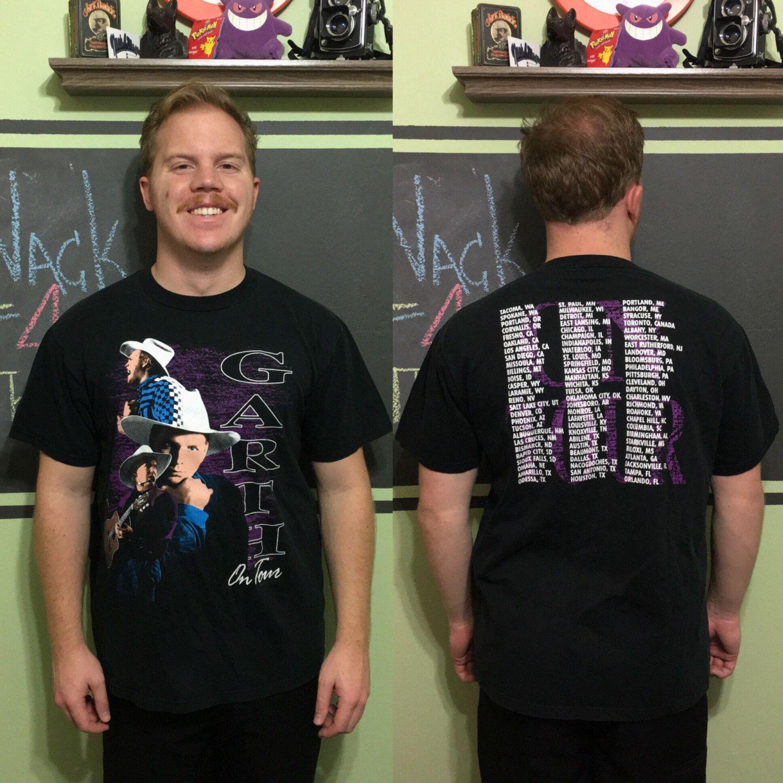 T shirt design jonesboro ar - Vintage 1992 Garth Brooks Garth On Tour Concert Jerzees L T Shirt