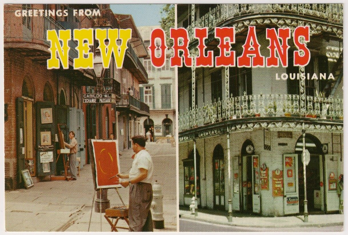 Vintage New Orleans Postcards New Orleans Pinterest New