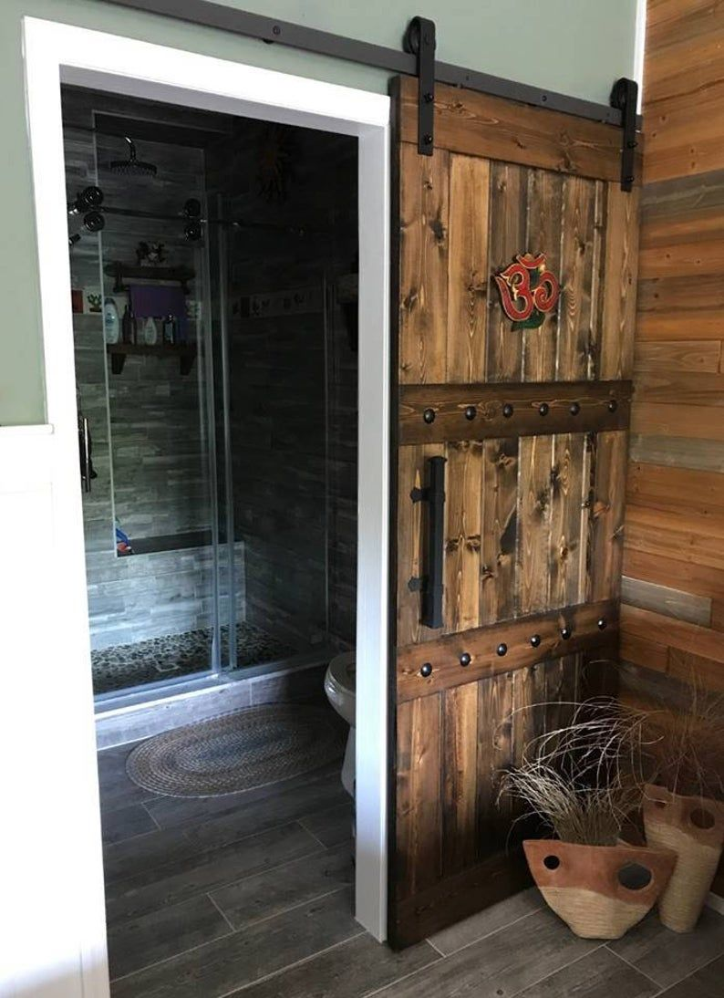 Interior sliding barn door farmhouse style custom