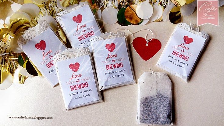 Love Is Brewing Tea Bag Wedding Favours Malaysia Wedding Favours
