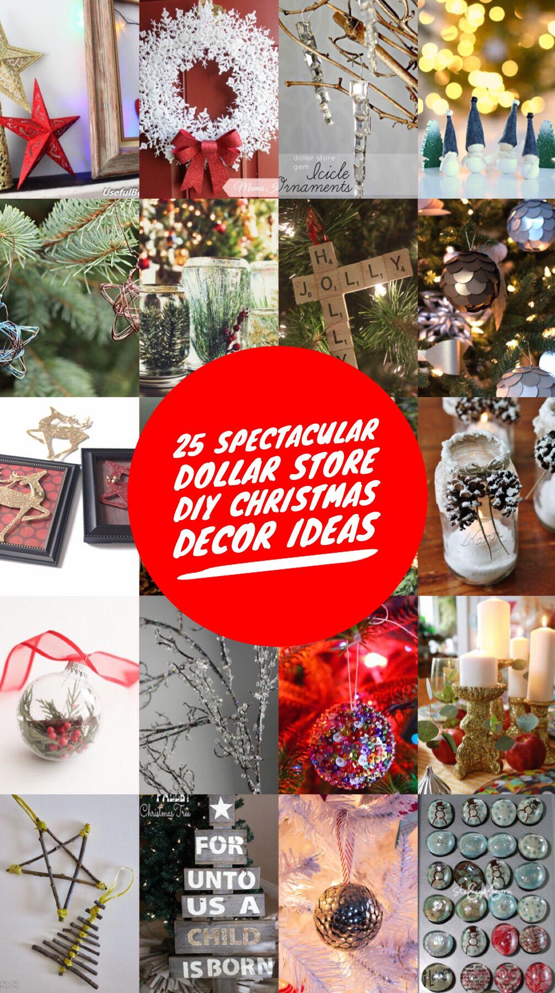 25 Spectacular Dollar Store Diy Christmas Decor Ideas Diy Christmas Decorations Dollar Store Christmas Decor Diy Christmas Diy