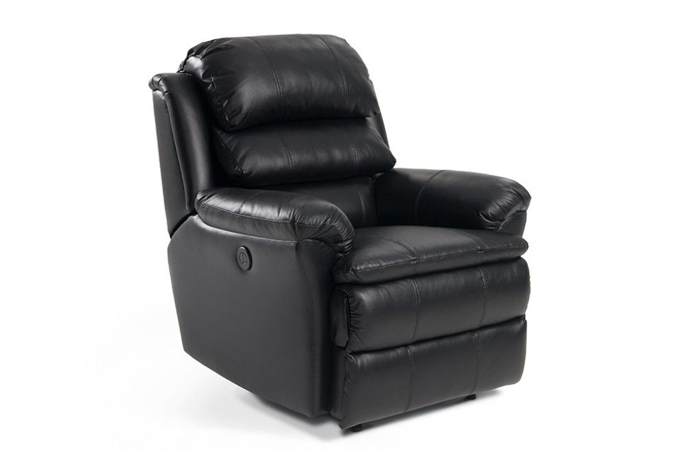 O Pedic Leather Power Recliner The Power Seat Power Recliners