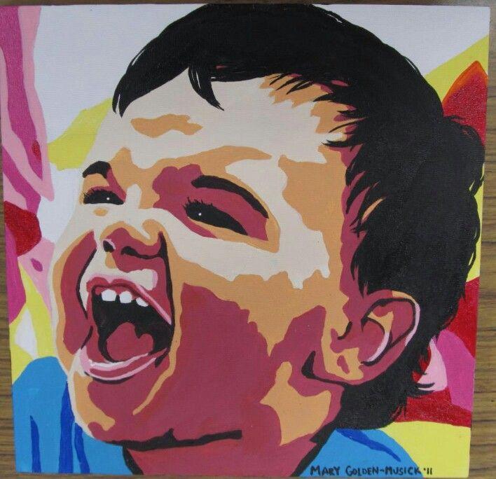 Posterized Acrylic Portrait Art Projects Art Lessons Art