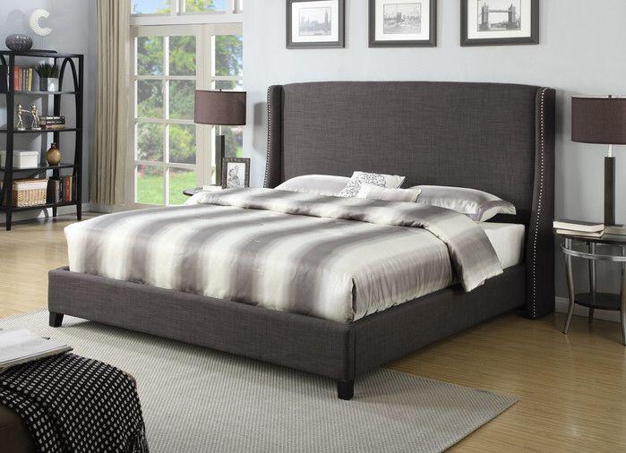 Bramble Wingback Bed | Bachelor Pad | Pinterest