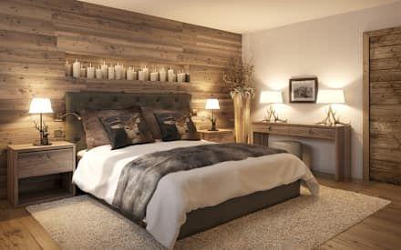 Schlafzimmer Einrichtung, Inspiration und Bilder | Chalet style ...