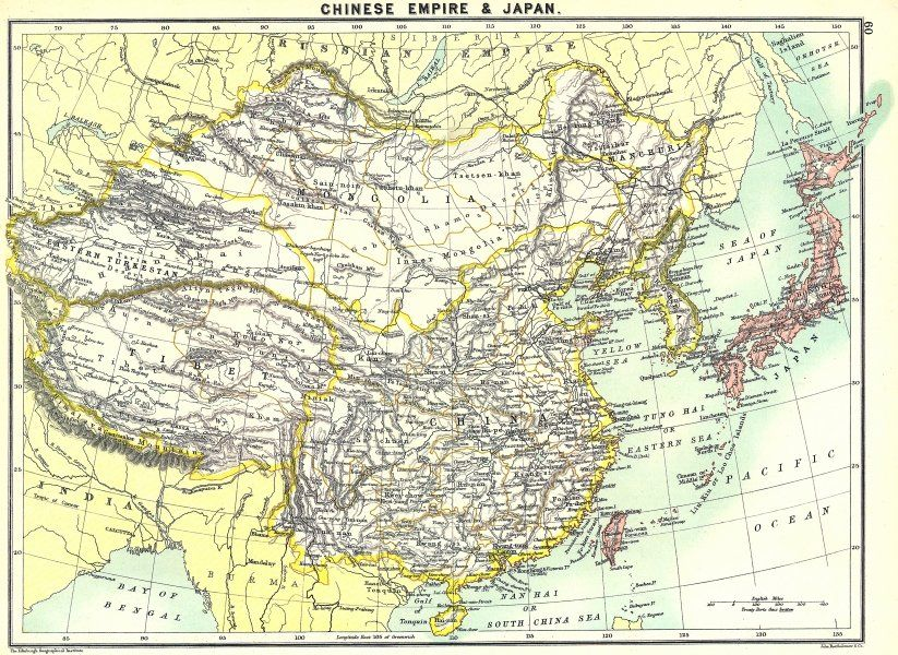 Map Of Chinese And Japanese Empires East Asia Pinterest - Japan map 1900