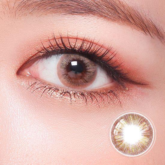 Viskon 1 Day Addict Brown 10 Lenses Contact Lenses Colored Colored Contacts Contact Lenses
