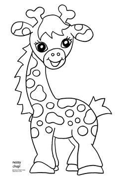 baby giraffe coloring pages for kids bing images - Baby Shower Monkey Coloring Pages