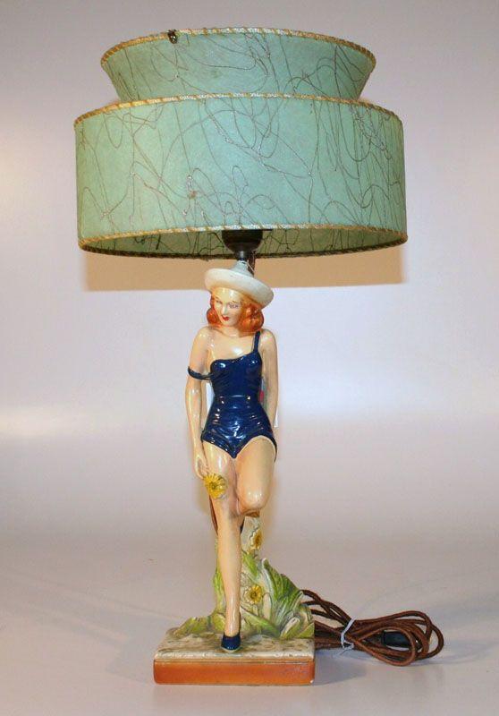 Chalkware Lamp Vintage Lamps, Pin Up Lamps