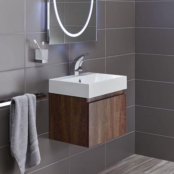 Mino 500 and drawer unit basin walnut bathstore - Bathroom vanities nebraska furniture mart ...