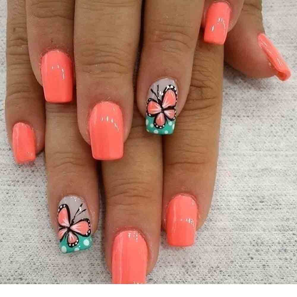 Top 15 Nail Art Designs For Short Nails Mylify With Images