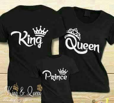 foto de Camisetas King Queen Prince Set juego familiar 00033