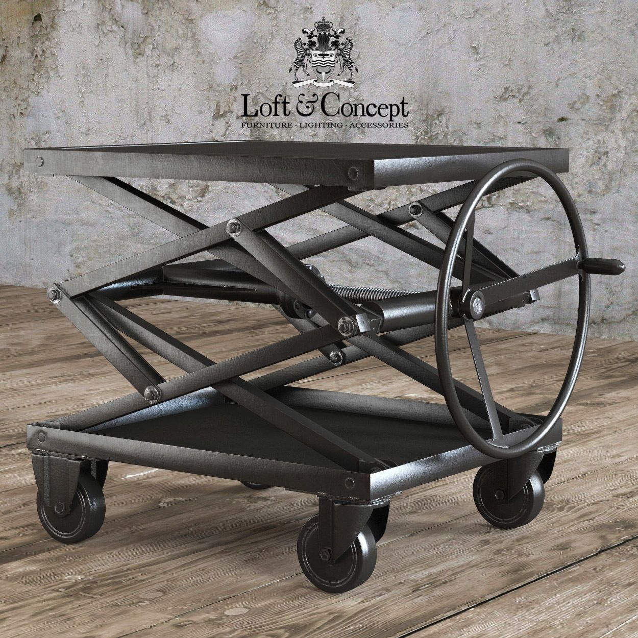 Industrial scissor lift coffee table httptherapybychance industrial scissor lift coffee table geotapseo Choice Image