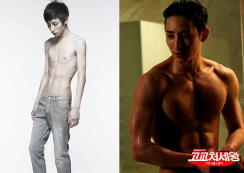7 Incredible Photos Of Idols Before After They Turned Super Buff Koreaboo Breaking K Pop News Photos And Vid Transformation Body Before After Body Body