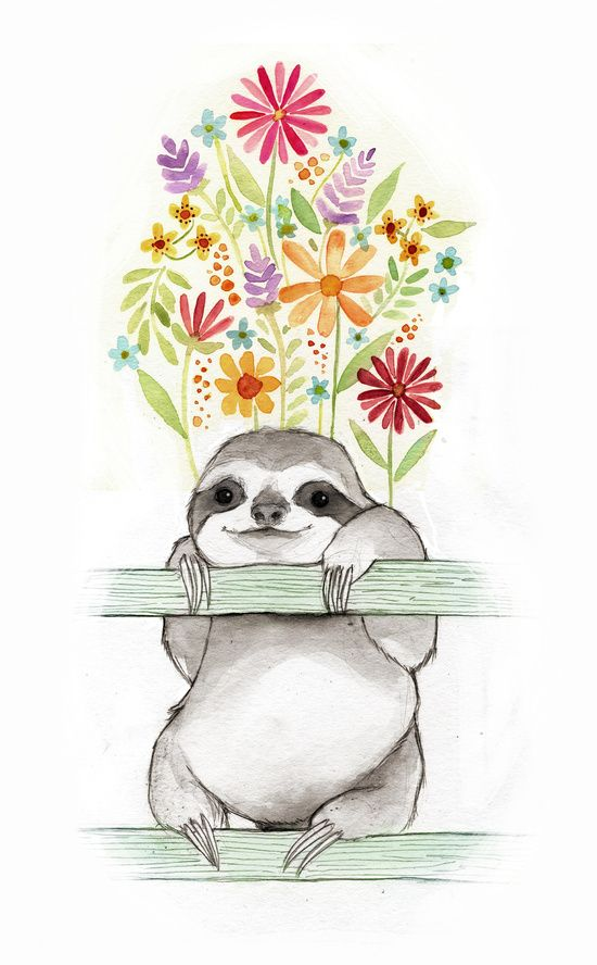 Le Sloth Art Print With Images Sloth Drawing Sloth Art