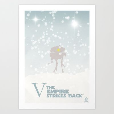 Vector Star Wars The Empire Strikes Back Art Print by LoweakGraph - $18.00