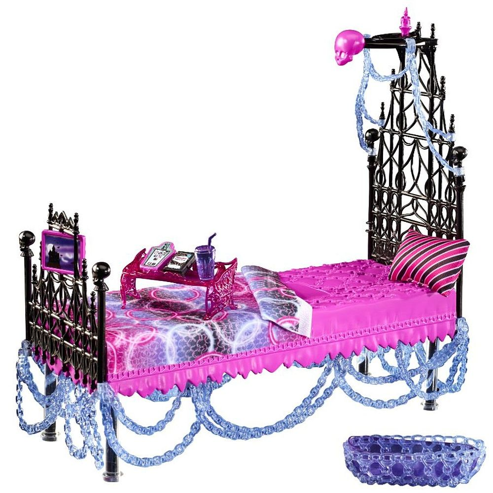 Monster high chambre gothique spectra vondergeist for Chambre poussin toys r us