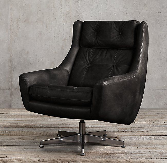 Motorcity Leather Swivel Chair  Bill Office  Penthouse Suite Fair Leather Swivel Dining Room Chairs Inspiration Design