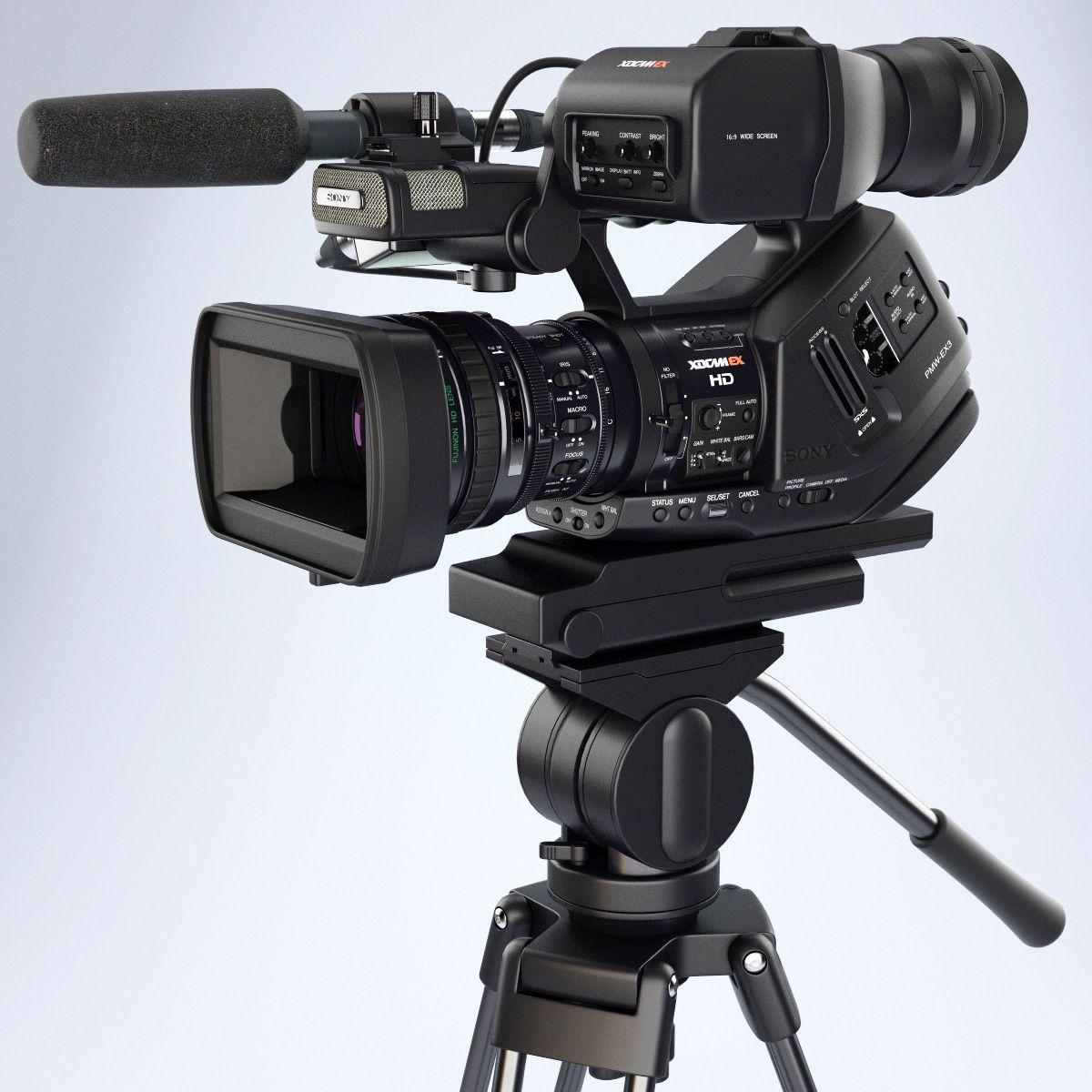 Sony XDCAM-EX HDCAM camera visualization on Behance