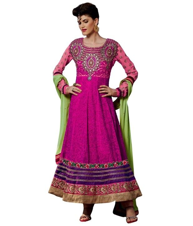 Designer Wedding Pink Soft Net #Salwar Kameez