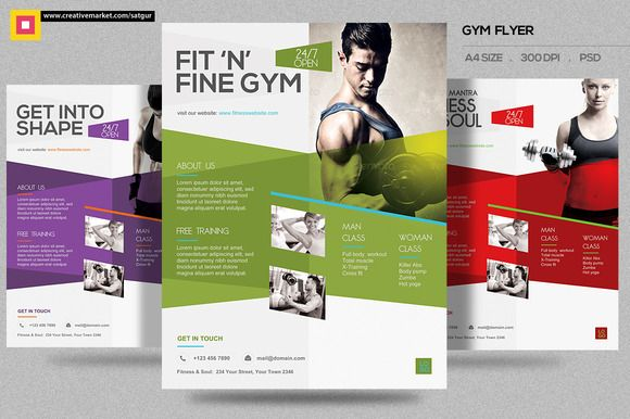 Fitness Flyer  Gym Flyer V  Flyer Template And Template