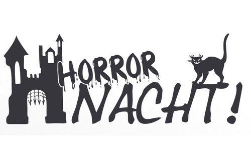 East Urban Home Wall Decal Horror Night Cat Castle  castle